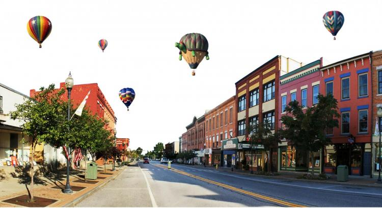 Balloons over Dansville